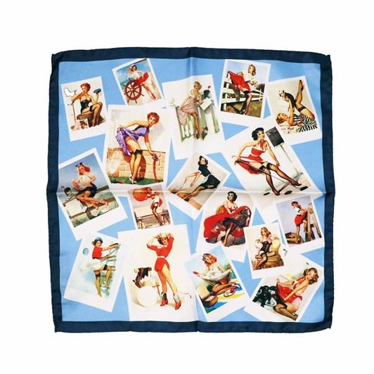 Monti Castello 100% Silk Pocket Square - Polaroid Vintage Pin Ups