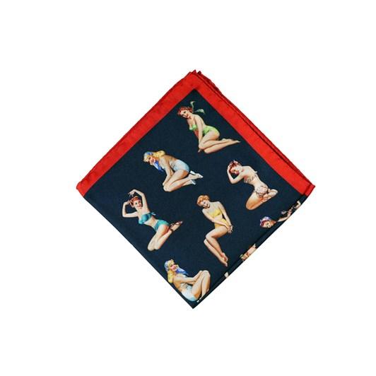 Monti Castello 100% Silk Pocket Square - Vintage Bathing Beauties