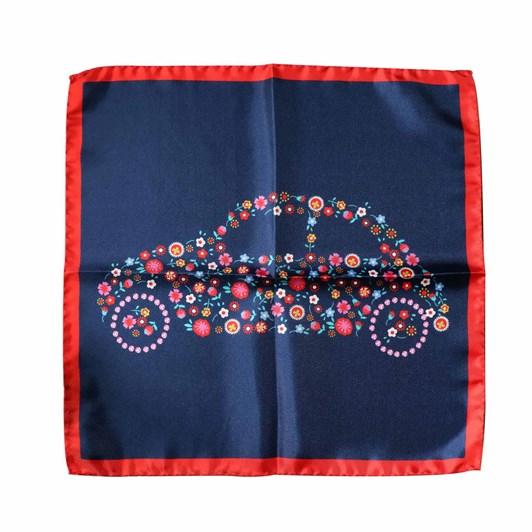 Monti Castello 100% Silk Pocket Square - Flower Power Bubble Car