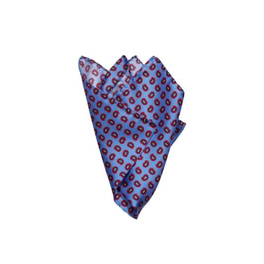Monti Castello 100% Silk Pocket Square - Periwinkle Paisley