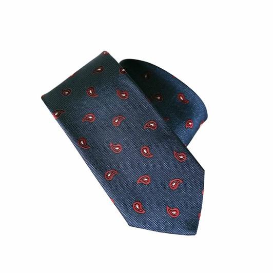 Monti Castello 100% Silk Tie - Navy Red Mini Paisley