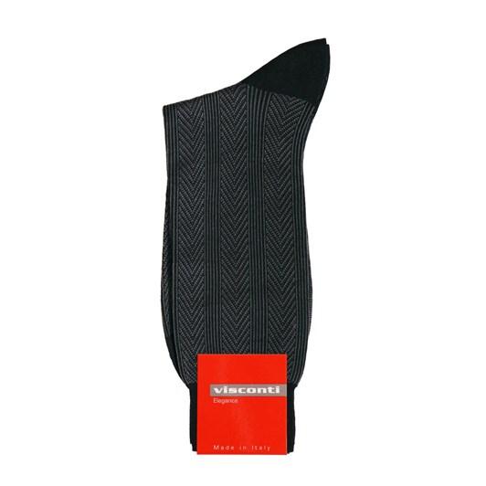 Visconti Egyptian Cotton Stripe Jacquard Socks