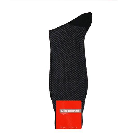 Visconti Egyptian Cotton Stipple Jacquard Socks