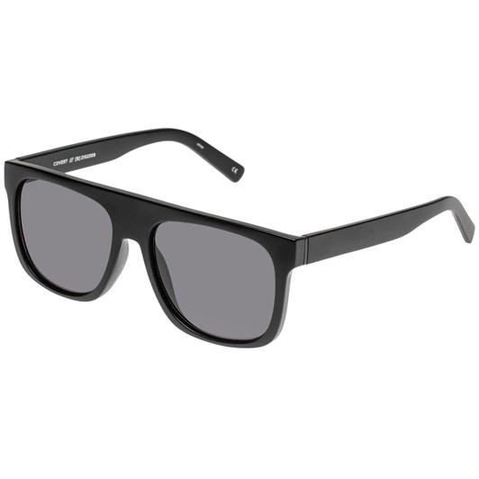 Le Specs Covert Sunglasses | Black Rubber