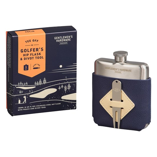 Gentleman's Hardware Golfers Hip Flask & Divot Tool Set