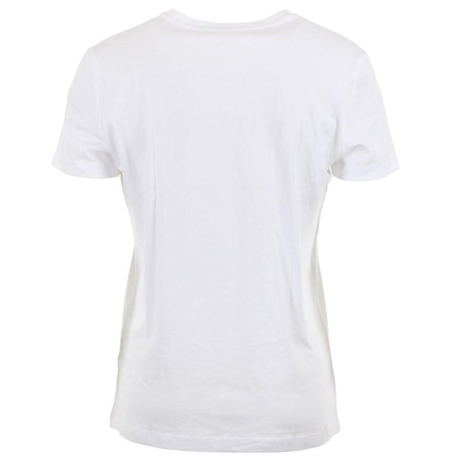 Calvin Klein Instnal Logo Slim Tee Wht Ckjm Pol -