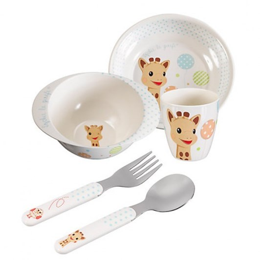Sophie The Giraffe 3pc Meal Time Set