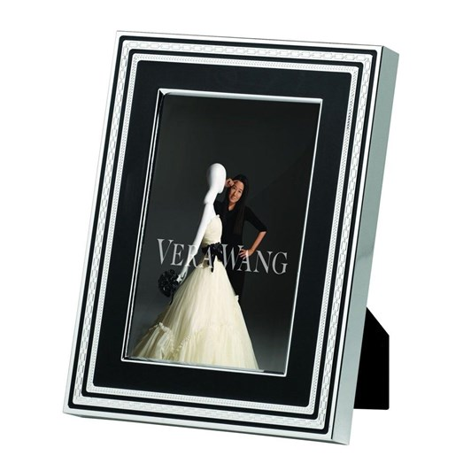 "Vera Wang With Love Noir Silver Giftware Frame 4x6"" (10x15cm)"