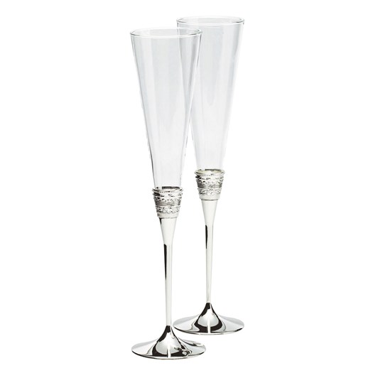 Vera Wang With Love Silver Giftware Toasting Flute Pair