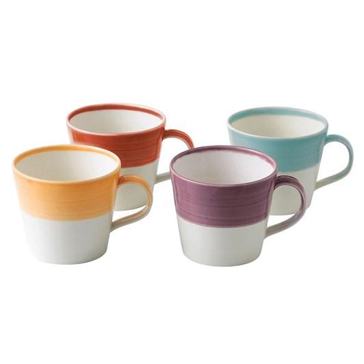 Royal Doulton 1815 Set of 4 Mugs Warm Colours