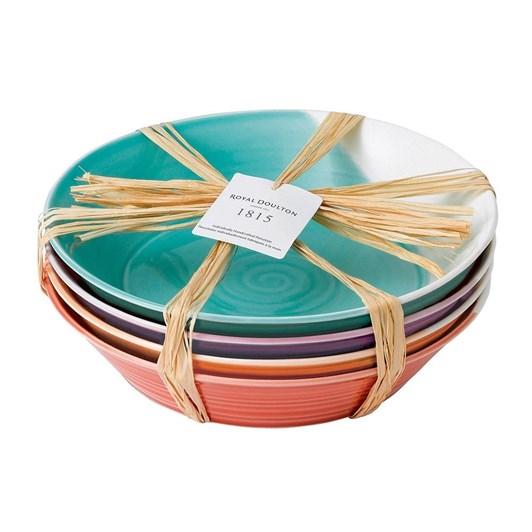 Royal Doulton 1815 Pasta Bowls set of 4 Brights 22cm