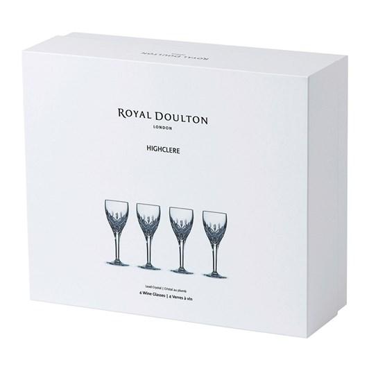 Royal Doulton Highclere Crystal Wine Set Of 4