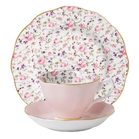 Royal Albert Rose Confetti Teacup/ Saucer/ Plate Set