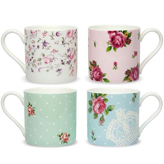 Royal Albert Tea Party Set of 4 Casual Mugs