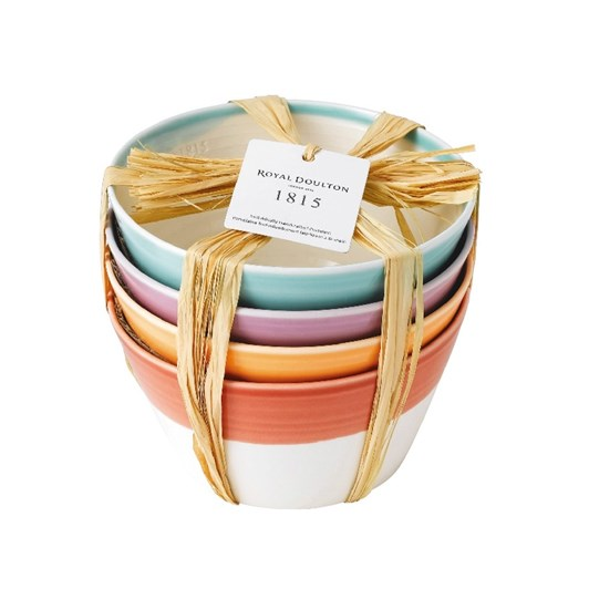 Royal Doulton 1815 Cereal Bowls set of 4 Brights 15cm