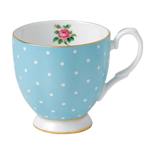 Royal Albert Polka Blue Vintage Mug Small