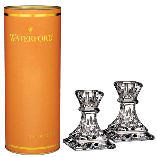 Waterford Giftology Lismore Candlestick Pair 10cm