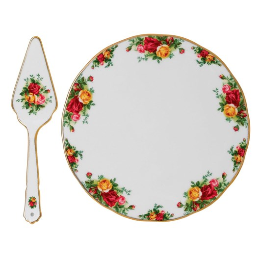 Royal Albert Old Country Roses Gorgeous Gifts Cake Plate & Server
