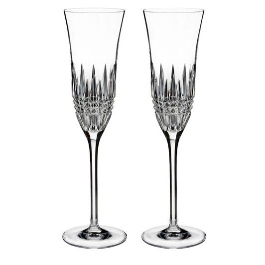 Waterford Lismore Diamond Essence Flute Pair 240ml
