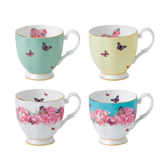 Royal Albert Miranda Kerr Set of 4 Vintage Mugs
