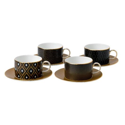 Wedgwood Arris Teacups & Saucers Set of 4 180ml