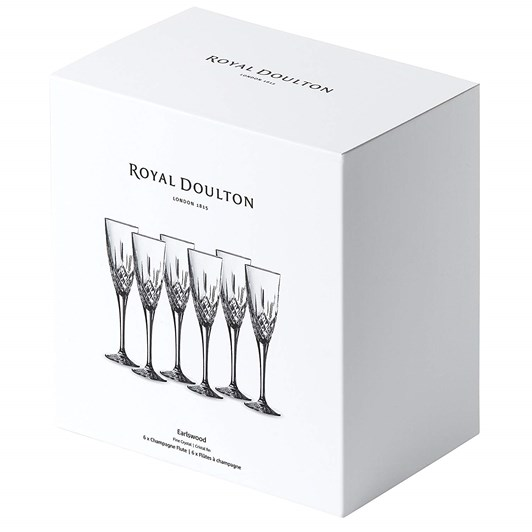 Royal Doulton Earlswood Flute Set Of 6