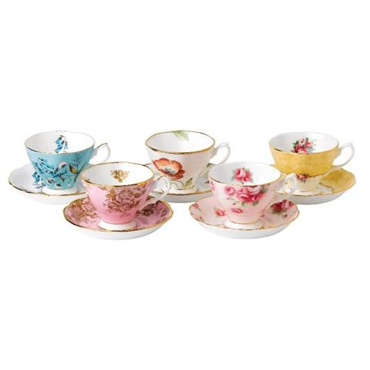 Royal Albert 100 Years Teaware 10 Piece Set Cup & Saucer 1950-1990