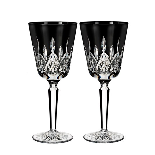 Waterford Lismore Black Goblet Set of Two