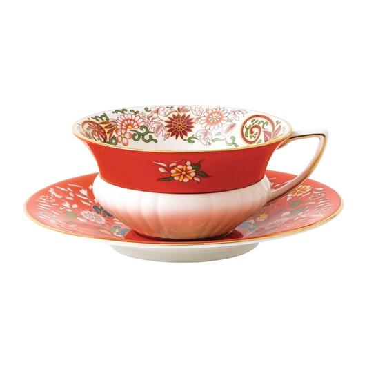 Wedgwood Wonderlust Crimson Orient Teacup & Saucer