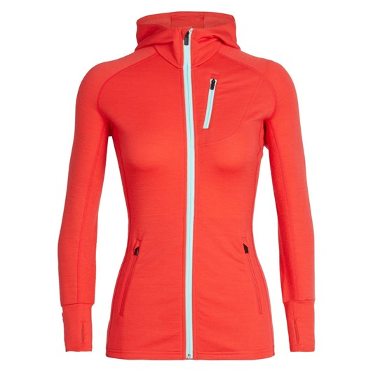 Icebreaker Women's Quantum Long Sleeve Zip Hood