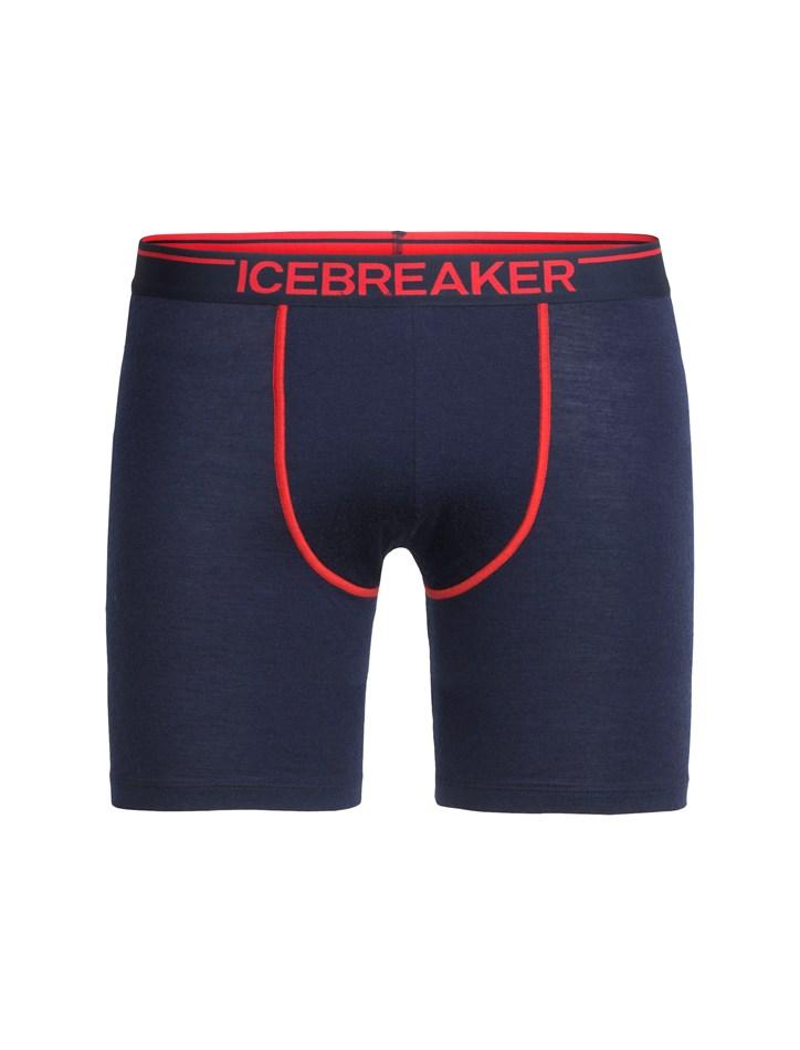 Icebreaker Mens Anatomica Long Boxers - 406-midnight navy rocket midnight