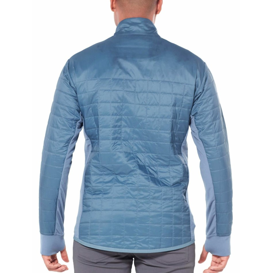 Icebreaker Mens Helix LS Zip - 406-granite blue midnight navy