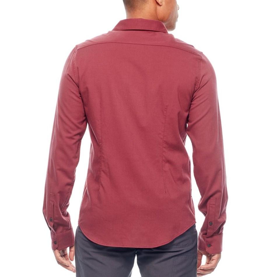 Icebreaker Mens Compass Flannel LS Shirt - 601-vintage red
