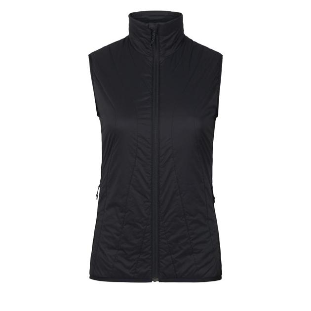 Icebreaker Womens Hyperia Lite Hybrid Vest - 001-black
