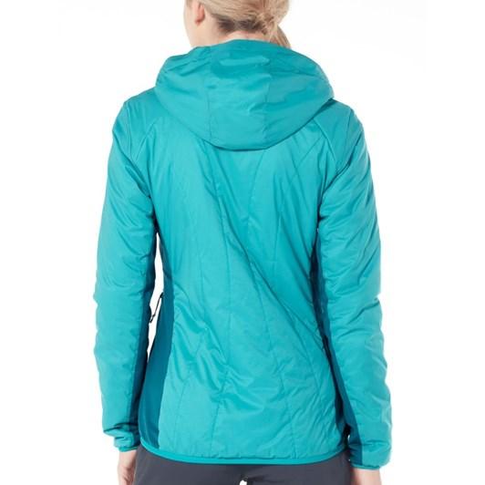 Icebreaker Womens Hyperia Lite Hybrid Hooded Jacke