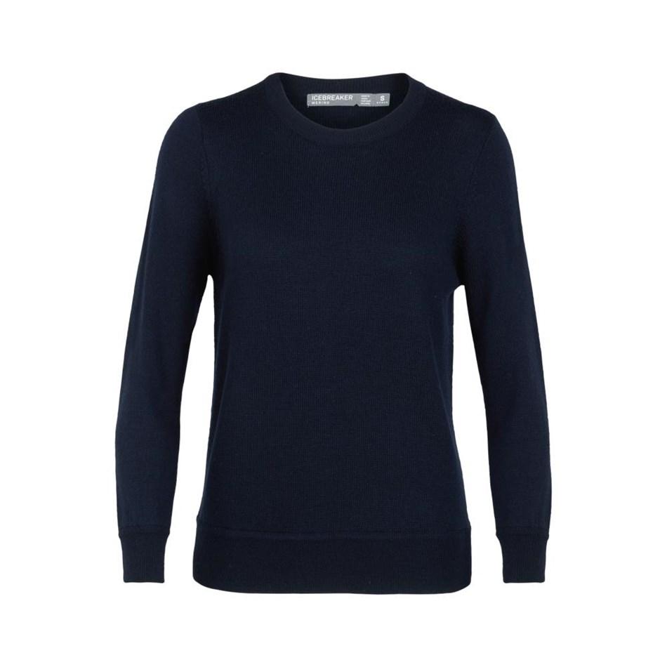 Icebreaker Womens Muster Crewe Sweater - 401-midnight navy