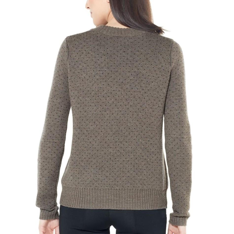 Icebreaker Womens Waypoint Crewe Sweater - 201-toast hthr char hthr