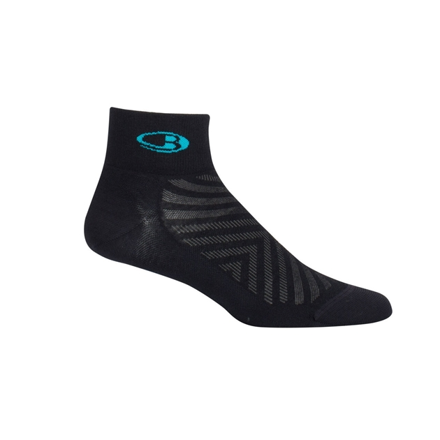 Icebreaker Womens Run+ Ultralight Mini - 001-black