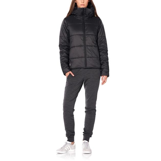 Icebreaker Womens Collingwood Hooded Jacket - 001-black