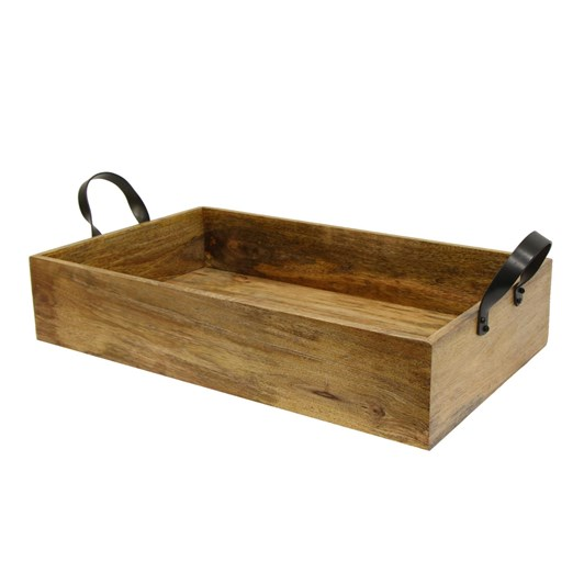 French Country Ploughmans Small Rectangle  Tray Iron Handles