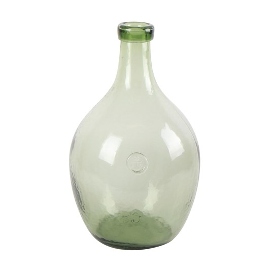 French Country Bottle Vase Green Large