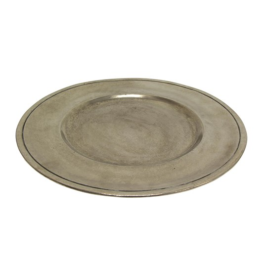 French Country Pewter Charger Plate