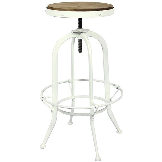 French Country Workshop Stool White