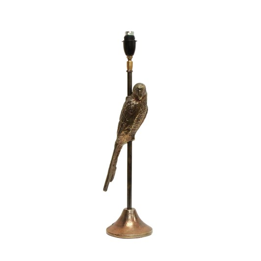 French Country Parrot Antique Gold Lamp Base