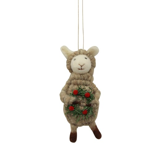 French Country  Sheep with Wreath