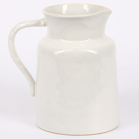 French Country Franco Rustic White Large Pitcher