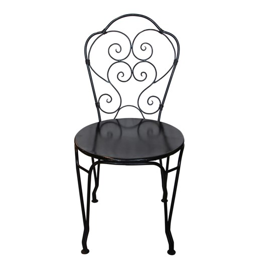 French Country Black Iron Paris Chair
