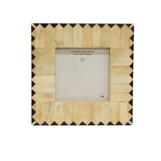 "French Country Cleo Zig Zag Square Photo Frame 4x4"""