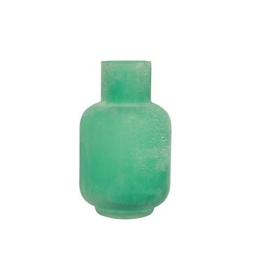 French Country Distressed Aqua Bottle Vase Small