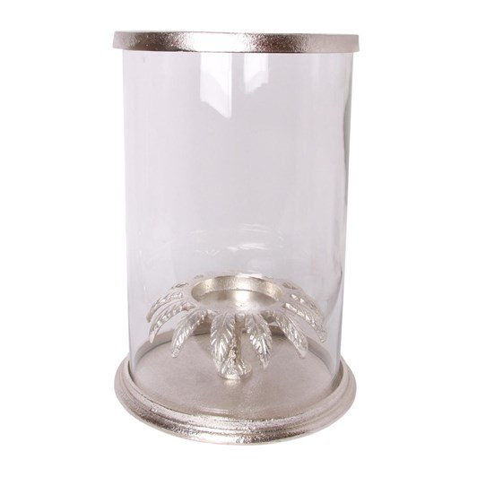 French Country Leaf Hurricane Silver